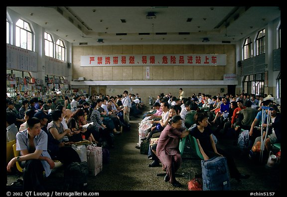Waiting at the Panzhihua (Jingjiang) train station.