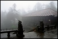 Xiangfeng temple in mist. Emei Shan, Sichuan, China ( color)