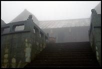 Xixiangchi temple in the fog. Emei Shan, Sichuan, China