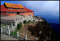 Jinding Si monestary, early morning. Emei Shan, Sichuan, China (color)