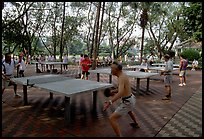 Playing table tennis, Liuha Park. Guangzhou, Guangdong, China ( color)