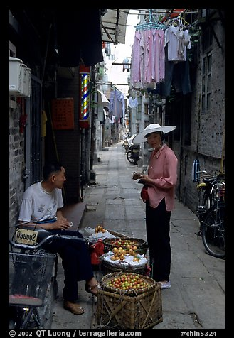 Narrow backstreet. Guangzhou, Guangdong, China (color)