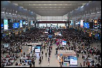 Hongqiao Railway Station main hall. Shanghai, China ( color)