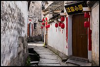 Alley with river. Hongcun Village, Anhui, China ( color)