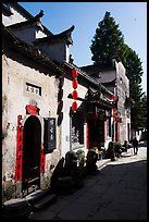 Street with shadows. Xidi Village, Anhui, China ( color)