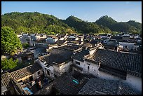 Village rooftops. Xidi Village, Anhui, China ( color)