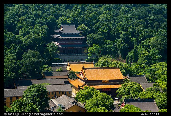 Jingci Temple on Nanping Hill. Hangzhou, China (color)