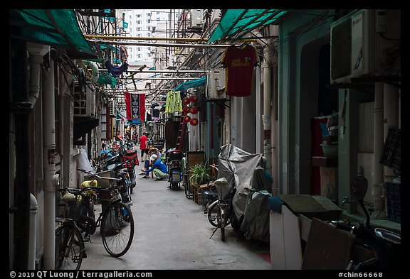 Alley. Shanghai, China (color)
