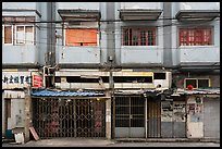 Dilapidated buildings slated for demolition. Shanghai, China ( color)