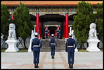 Changing of the guard ceremony, Martyrs Shrine. Taipei, Taiwan ( color)