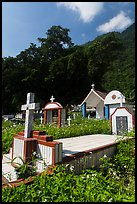 Cemetery and lush hills, Chongde. Taiwan ( color)