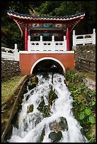 Stream flowing under Changchun Bridge. Taroko National Park, Taiwan ( color)