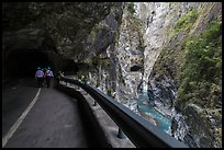 Road at Swallow Grotto, Taroko Gorge. Taroko National Park, Taiwan ( color)