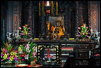 Altar with Black-Faced Matsu, Tienhou Temple. Lukang, Taiwan (color)