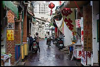 Alley in early morning. Lukang, Taiwan ( color)