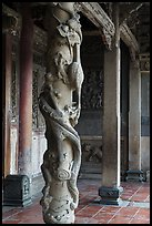 Carved dragon column, Hall of five gates, Longshan Temple. Lukang, Taiwan ( color)