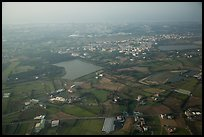 Aerial view of developped countryside. Taiwan (color)
