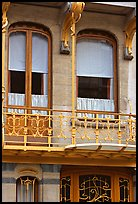 Balcony of Horta Museum in Art Nouveau style. Brussels, Belgium