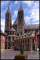 Notre Dame Cathedral, completed in the 12th century. Tournai, Belgium ( color)
