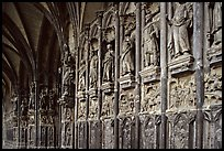 Carvings outside of Notre Dame Cathedral. Tournai, Belgium ( color)