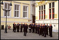 Choir singing on the Burg. Bruges, Belgium