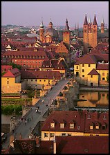 Alte Mainbrucke and Neumunsterkirche. Wurzburg, Bavaria, Germany ( color)