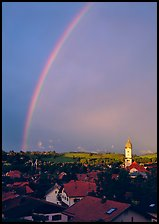 Rainbow over Nesselwang. Bavaria, Germany ( color)