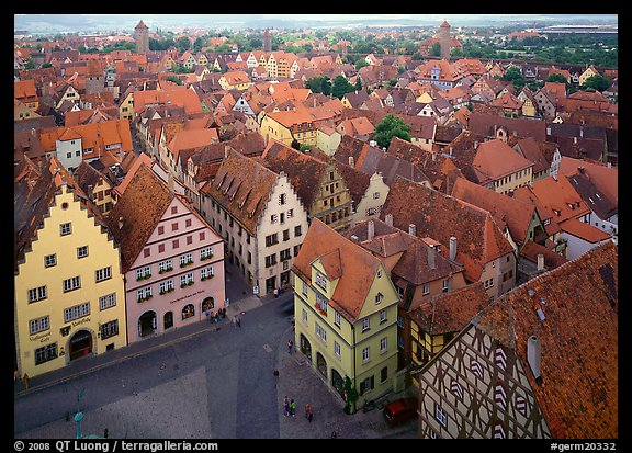 Panoramic view of the city. Germany (color)