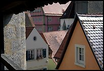 Rooftops seen from the Ramparts. Rothenburg ob der Tauber, Bavaria, Germany ( color)