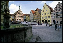 Fountain on Marktplatz. Rothenburg ob der Tauber, Bavaria, Germany ( color)