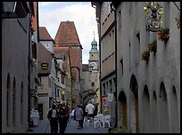 Old street. Rothenburg ob der Tauber, Bavaria, Germany ( color)