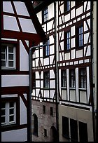 Timbered houses. Nurnberg, Bavaria, Germany ( color)