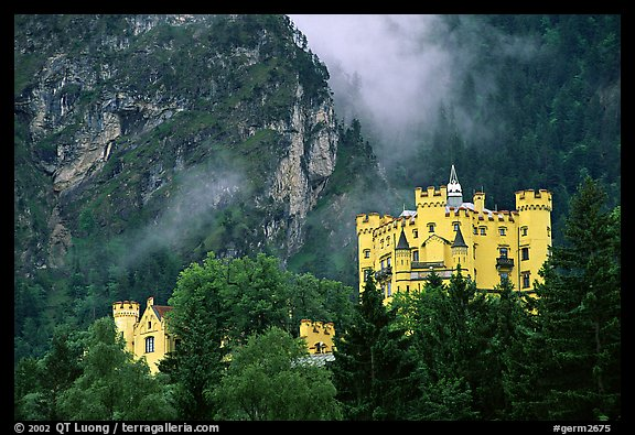 Hohenschwangau, built in 1832 for Maximillien II, King Ludwig's father. Bavaria, Germany (color)