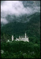 Neuschwanstein, one of the castles built for King Ludwig. Bavaria, Germany ( color)