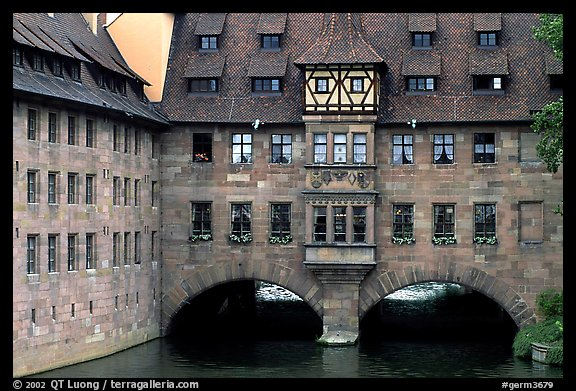 House built accross the river. Nurnberg, Bavaria, Germany