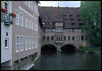 House built accross the river. Nurnberg, Bavaria, Germany ( color)