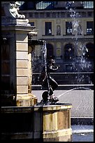 Fountain in royal residence of Drottningholm. Sweden ( color)