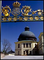 Entrance gate, royal residence of Drottningholm. Sweden (color)