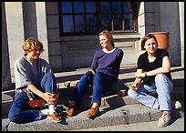Students at the university of Uppsala. Uppland, Sweden (color)
