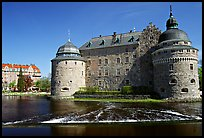 Orebro slott (castle) in Orebro. Central Sweden (color)