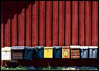 Row of mailboxes. Gotaland, Sweden ( color)