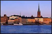 View of Gamla Stan with Riddarholmskyrkan. Stockholm, Sweden