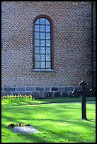 Graves in abbey grounds, Vadstena. Gotaland, Sweden