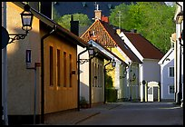 Streets in old town, Vadstena. Gotaland, Sweden