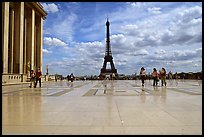 Parvis de Chaillot and Tour Eiffel. Paris, France ( color)