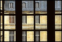 Versailles Palace walls seen from a window. France ( color)