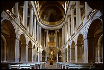 First floor of the Versailles palace chapel. France
