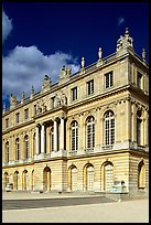 Facade of the Versailles palace, late afternoon. France ( color)