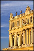 Detail of facade, late afternoon, Versailles palace. France ( color)