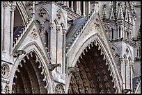 Detail of Cathedral facade, Amiens. France ( color)